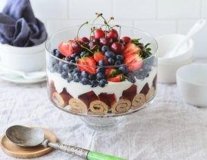 Healthy Fruit Trifle
