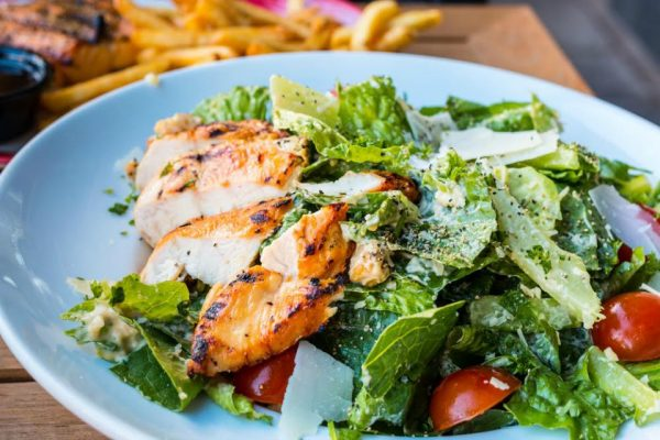 Better for you chicken caesar salad