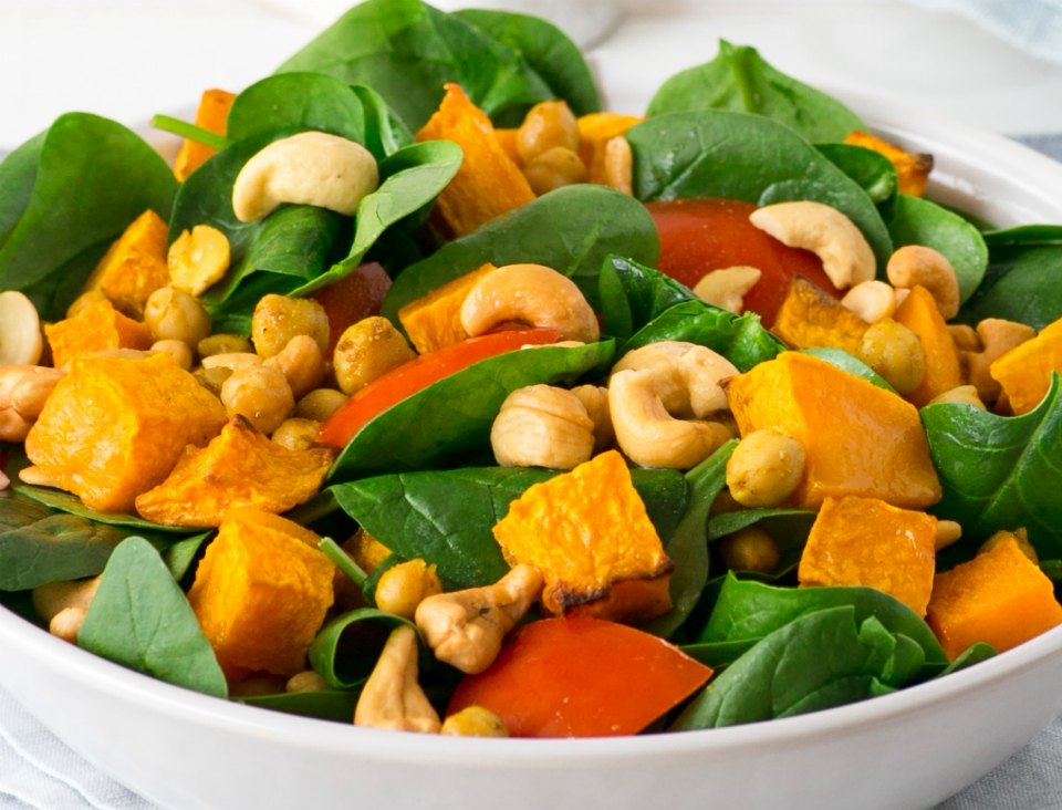 Spiced Chickpea and Pumpkin Salad