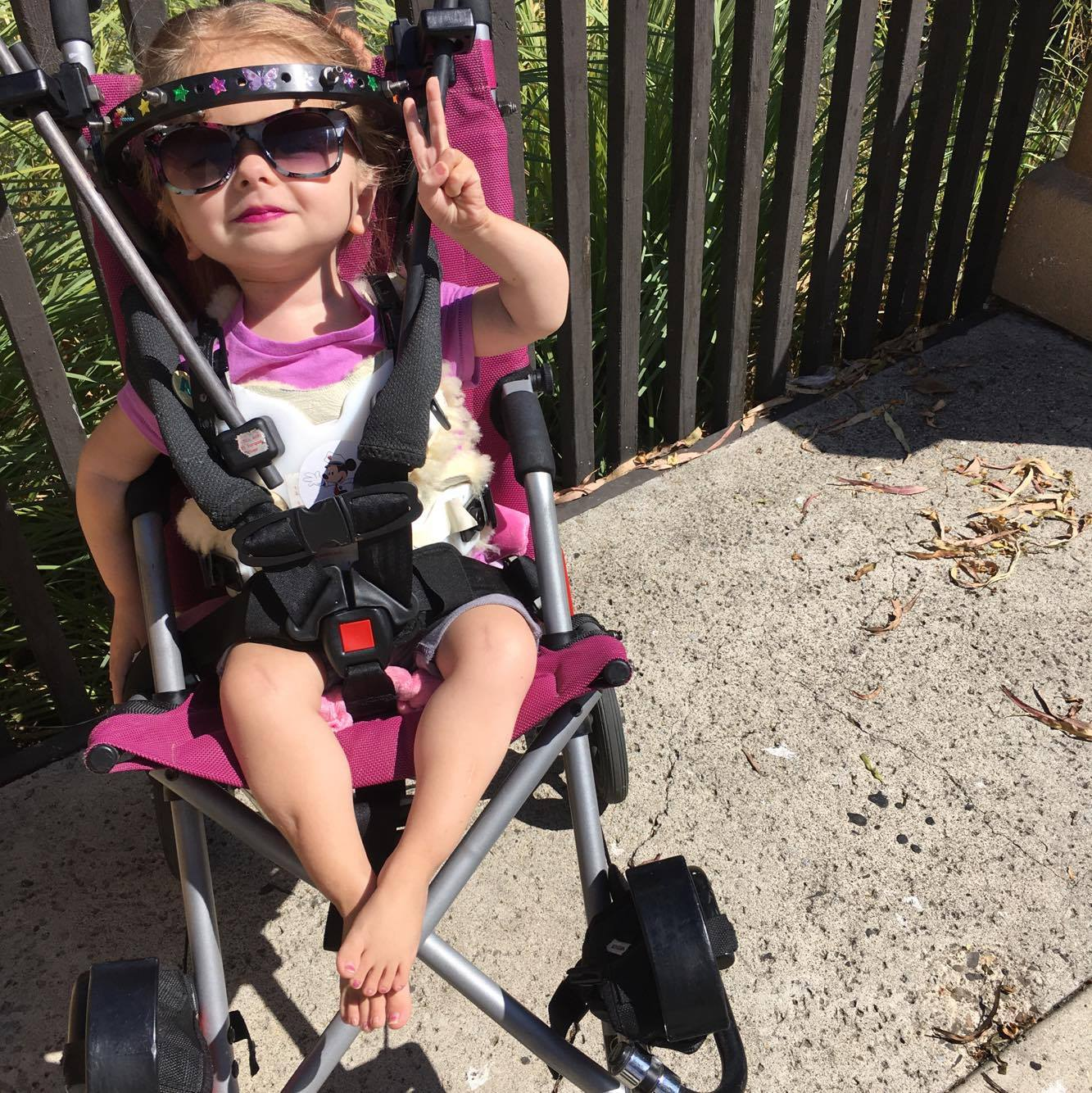 Zoe with wheelchair